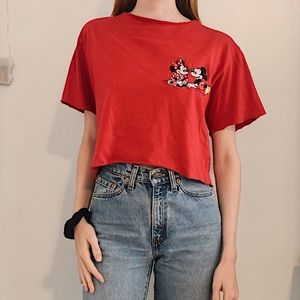 (SOLD) MICKEY MOUSE CROP TEE